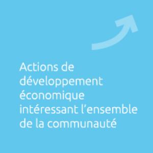 Actions de développement économique interessant l'ensemble de la communauté