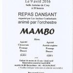 Repas Dansant Bourg-Fidèle - Communauté de Communes Vallées et Plateau d'Ardenne