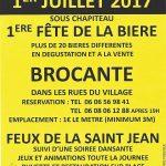 affiche fête de la bière 2017 Sévigny la Forêt