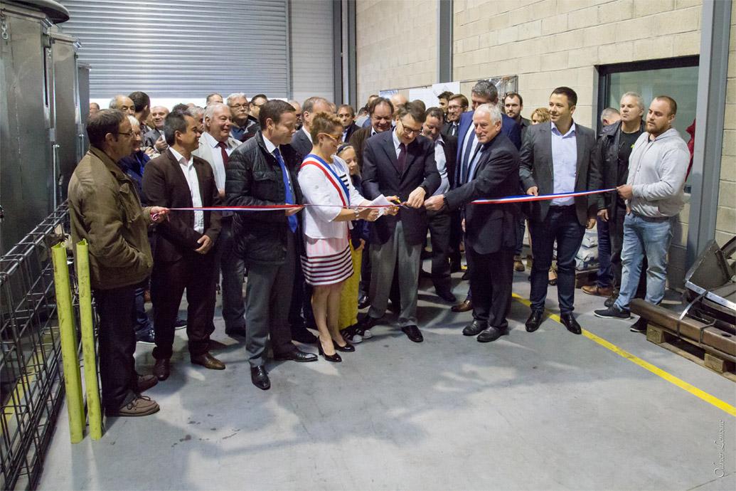 Inauguration des entreprises Acciome 08, Concept Iton et Innovax à la ZA Bellevue à Les Mazures.