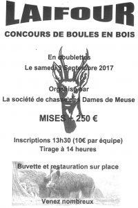 Concours de boules en bois - Laifour